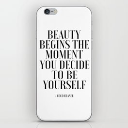 Girls Quote Beauty Begins Fashion Wall Art FASHIONISTA Poster Home Decor Quote iPhone Skin