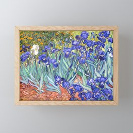 Vincent Van Gogh Irises Framed Mini Art Print
