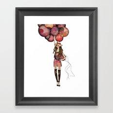 Le Ballon // Birthday IV Framed Art Print
