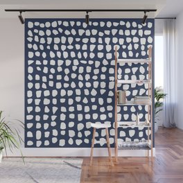 Dots / Navy Wall Mural