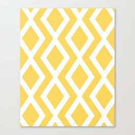 Yellow Diamond Canvas Print