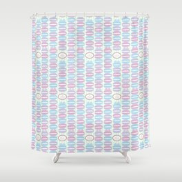 Macaron Stripes in Mint Shower Curtain