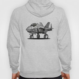 F35 Fighter Jet Airplane - F-35C Lightning II Joint Strike Fighter Cartoon Hoody