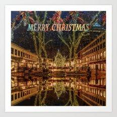 Merry Christmas, Boston Art Print