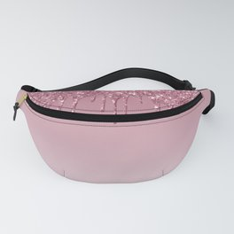 Pink Dripping Glitter Fanny Pack