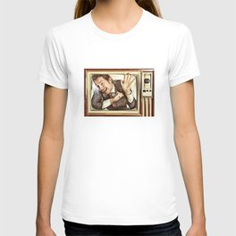 Man trapped in TV T-shirt