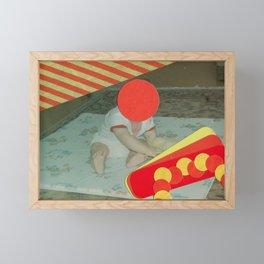 Warning Framed Mini Art Print