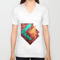 tulips V-neck T-shirts featuring Tulips by Akwaflorell