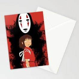 Red Spiritted Illustration Stationery Cards