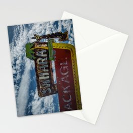 Vintage Sahara Lounge Neon Sign Route 66 Santa Rosa New Mexico Stationery Cards