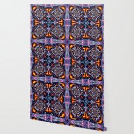 Fire Grid Wallpaper