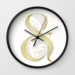 Me & You - Gold Wall Clock