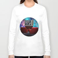 tv Long Sleeve T-shirts featuring Television by Cs025