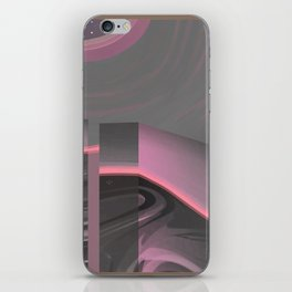Claraboya, Geodesic Habitacle, Pink neon room iPhone Skin