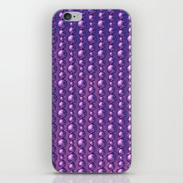 Bead Pattern, Magenta iPhone Skin