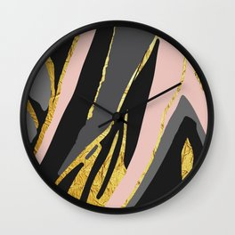 Gold and pale river Wall Clock