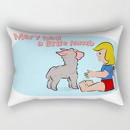 Mary had a little lamb Rectangular Pillow