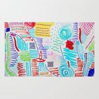 doodle Area & Throw Rugs featuring DOODLE by austeja saffron