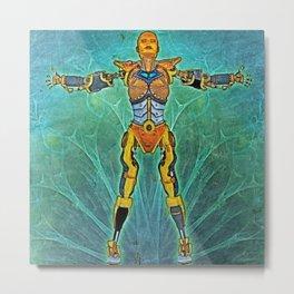 cyberwoman Metal Print
