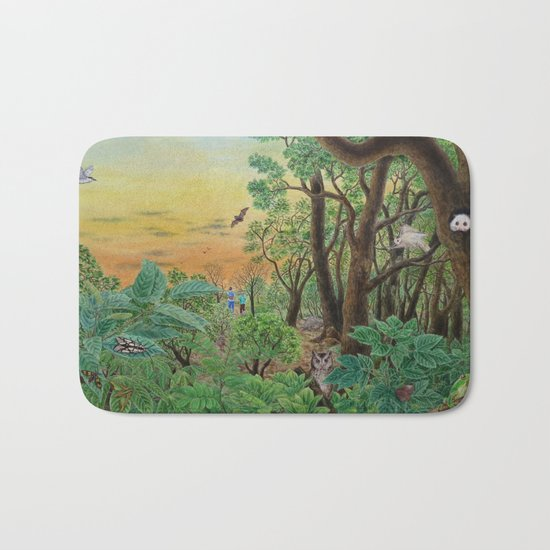 A Day of Forest (9). (the forest at night) Bath Mat