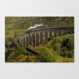Heading To School Of Wizardy And Magic Canvas Print
