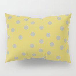 Simply Dots Retro Gray on Mod Yellow Pillow Sham