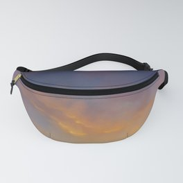 """""""Dragon in the sunset sky"""" Fanny Pack"""