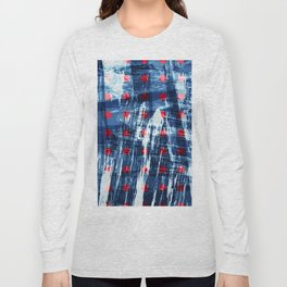 dots on blue ice Long Sleeve T-shirt