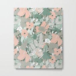 Tropical Florals (Graze) Metal Print