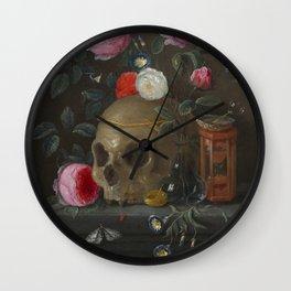 Death and Roses Jan van Kessel Vanitas Still Life Wall Clock