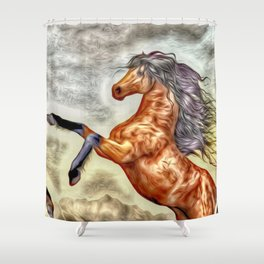 Painted Horse 3 Shower Curtain