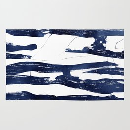Abstract Waves in Blue Rug
