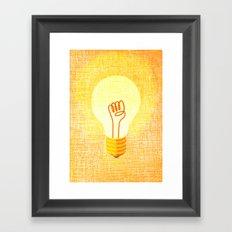 fight for your light Framed Art Print