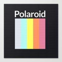 polaroid Canvas Prints featuring Polaroid by Good Sense