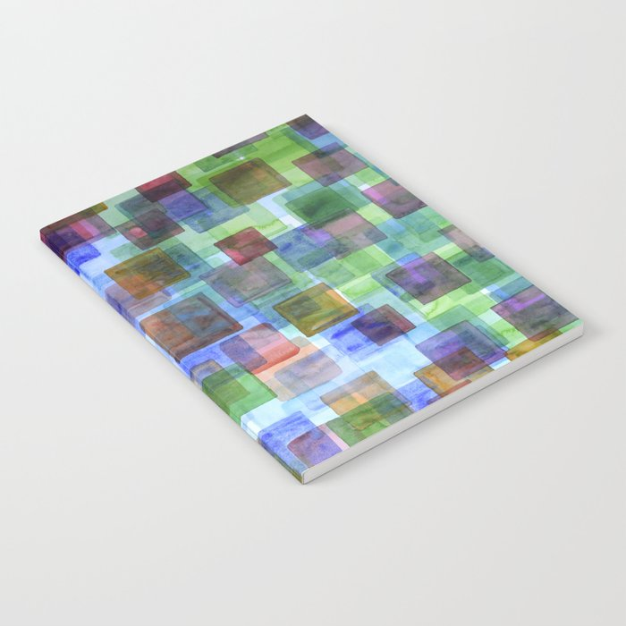 Squares in all the Colors of the Rainbow Notebook
