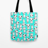 kodama Tote Bags featuring Kodama  by pkarnold + The Cult Print Shop