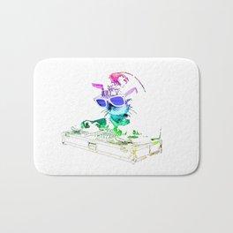 Rainbow DJ Kitty Bath Mat