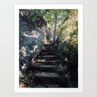 Stairs to Sharp Top Art Print