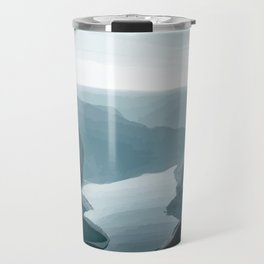 Dive from the cliff Travel Mug
