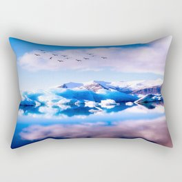 Frozen Journey to the Νorth Rectangular Pillow
