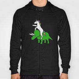 Unicorn Riding Triceratops Hoody