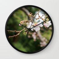 sakura Wall Clocks featuring sakura by artsimo