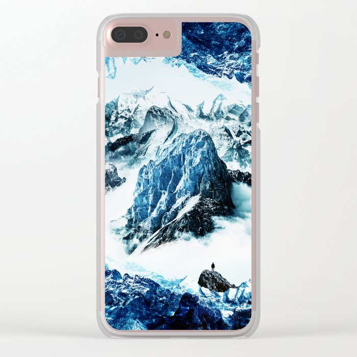Frozen isolation Clear iPhone Case