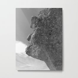 SHAPE OF A FACE STONE Metal Print
