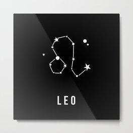 Leo Zodiac Sign Quote Metal Print