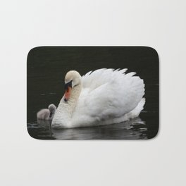 Mute Swan with Cygnet Bath Mat