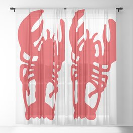 Red Lobster Sheer Curtain