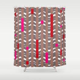 TRIBAL CHEVRON | mauve red Shower Curtain