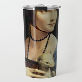 "Leonardo Da Vinci ""Portrait of Cecilia Gallerani (Lady with the Ermine)"" Travel Mug"