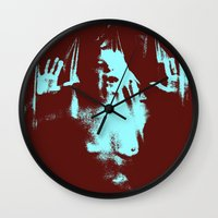 psycho Wall Clocks featuring Psycho by Groovyal